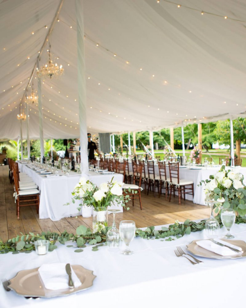 Outdoor,Tent,Banquet,Decor,For,Wedding,Day